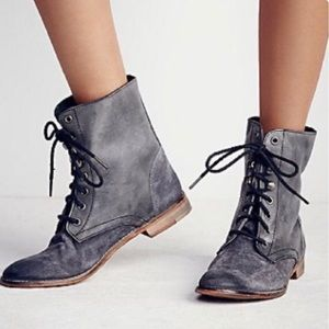Free People Truemay Lace-Up Combat Boot - Sz:  39